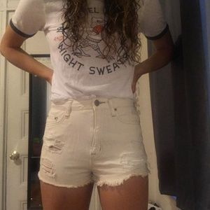 BDG White Jean Shorts urban outfitters